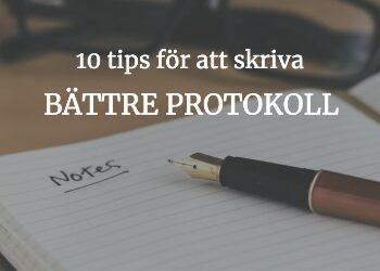 10 tips för smartare protokoll