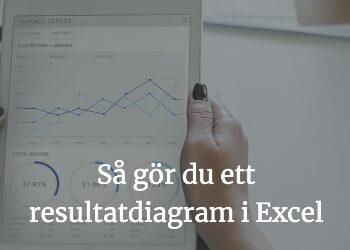 Så gör du ett resultatdiagram i Excel